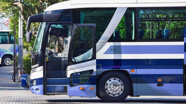 工場見学で乗るバス