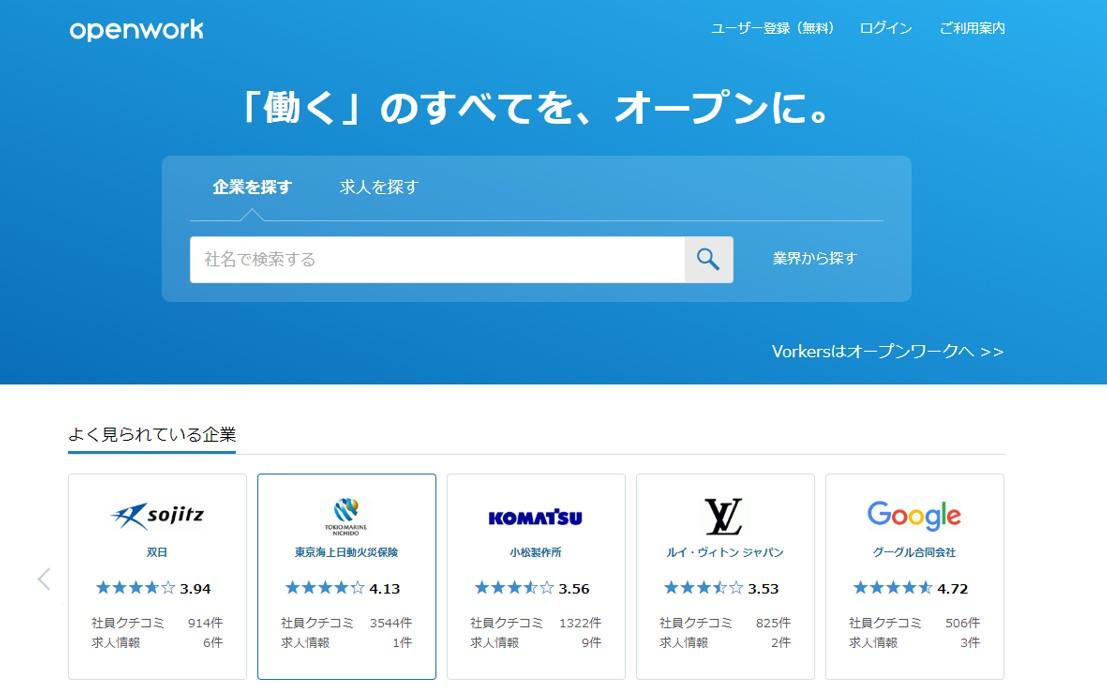 openworkの公式サイト
